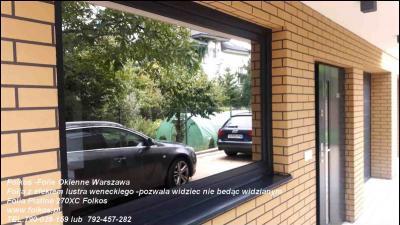 Sąsiad mi w okno zagląda- Szyba wenecka -Folie ,oklejanie szyb lustro weneckie Warszawa
