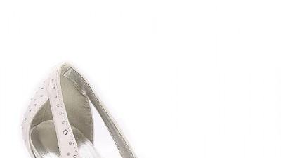 Satynowe buty ślubne