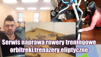 Serwis naprawa Rowery treningowe,orbitreki,trenażery eliptyczne