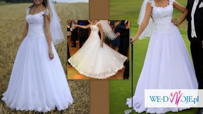 Skrząca suknia z odpinanymi ramiączkami-Odświeżona