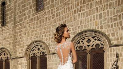 Ślczna suknia wieczorowa firma Dom Mody  Wiktoria