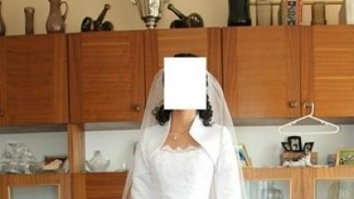 Śliczna 2-częściowa suknia ślubna