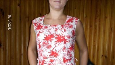 sliczna biała sukienka w czarwone kwiaty hit zesonu