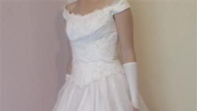 Śliczna biała suknia ślubna 36
