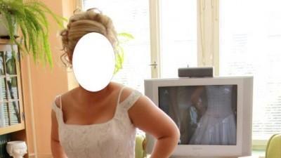 Śliczna biała suknia ślubna roz. 38-40 + GRATISY