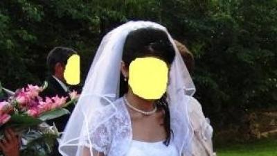 Śliczna biała suknia ślubna !!!!! (rozm. 38)