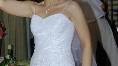 Śliczna biała suknia ślubna + welon GRATIS