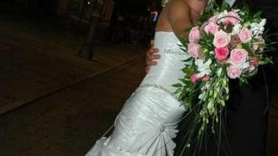 Śliczna biała suknia ślubna!!! Zobacz sama!