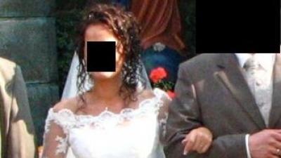 Śliczna i romantyczna koronkowa suknia ślubna