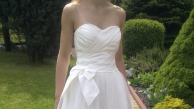Śliczna krótka sukienka ślubna