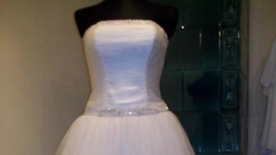 śliczna krótka suknia ślubna