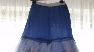 Śliczna niebieska suknia balowa!