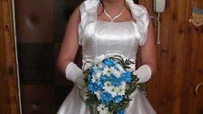 Śliczna perłowa suknia ślubna rozm 38 !GRATISY!