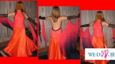 Śliczna sukienka do tańca - standard - klasa E,D,C
