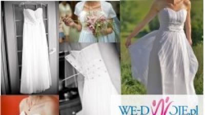 Śliczna sukienka ślubna rozm. 38