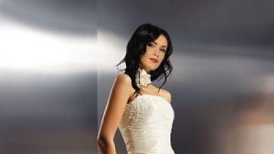 Śliczna suknia Agnes roz.36 ecru