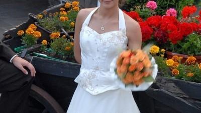 Śliczna suknia ecru -dolnośląskie