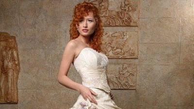 Śliczna Suknia Lavende Emmi Mariage rozm 40-42 jasne ecru