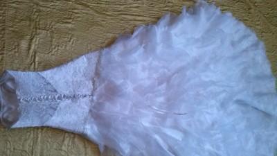 Śliczna suknia ślubna 34/36 svarowski biała okazja