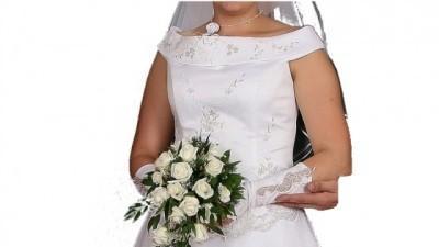 śliczna suknia ślubna biała 42/44 dla wysokiej