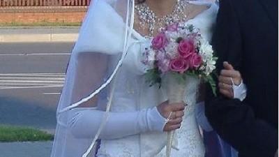Śliczna suknia ślubna biała/ecru