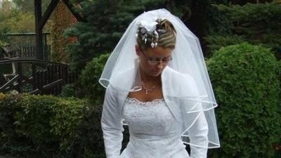 Śliczna suknia ślubna biała roz. 38
