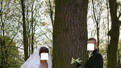 """ŚLICZNA SUKNIA ŚLUBNA BIAŁA """"SYDNEY"""" ,ROZ36/38,SUPER CENA 499 ZL"""