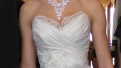 Śliczna suknia ślubna ecru!!!