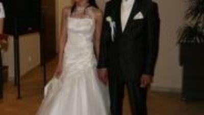 Śliczna Suknia Ślubna ecru rozm.34-38