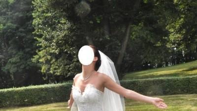 Śliczna suknia ślubna francuskiej firmy Farage-model Cindarella