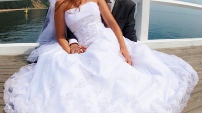Śliczna suknia ślubna - Kedane rozm. 38