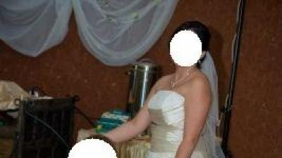Śliczna suknia ślubna- model Paloma 2008+ marynarka i krawat