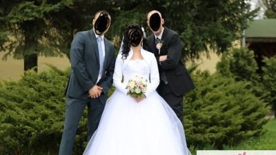 Śliczna suknia ślubna princessa rozmiar 36/38