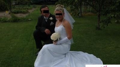Śliczna suknia ślubna, r38/40 cena 400zł