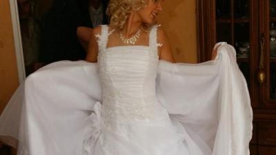 Śliczna suknia ślubna rozm. 34 - 36