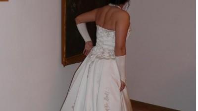 Śliczna suknia ślubna rozm.38 ecru z złotem - Bytom