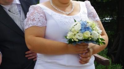 śliczna suknia ślubna rozmiar 48, 50, 52
