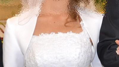 """śliczna suknia ślubna """"rybka"""" 36/38 biała"""
