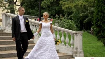 sliczna suknia ślubna TANIO