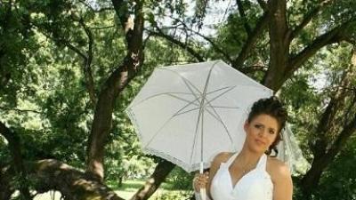 śliczna suknia ślubna  w kolorze białym Mateja 908