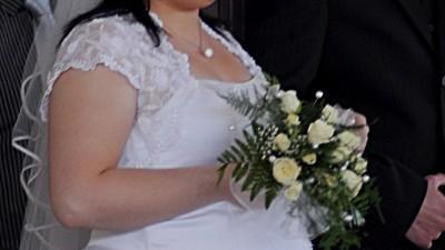 Śliczna suknia ślubna -większy rozmiar:)