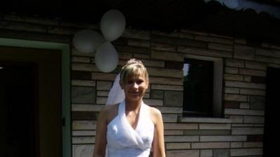 Śliczna suknia ślubna-własny projekt