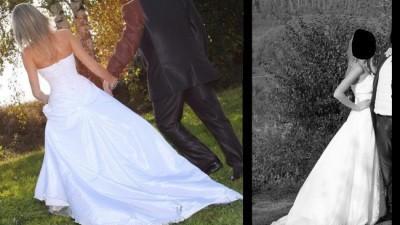 Śliczna suknia ślubna wraz z dodatkami!!!