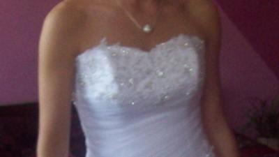 Śliczna suknia ślubna z kolekcji Biała Dama+Zaproszenie do Karpacza