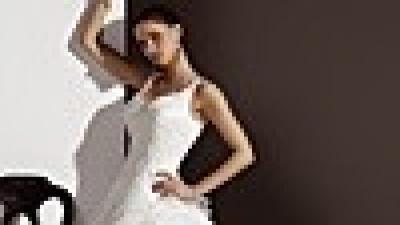 Śliczna suknia ślubna z odczepianym trenem