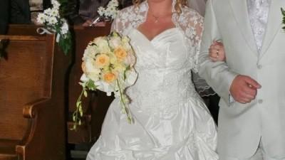 śliczna suknia ślubna z salonu Flavie