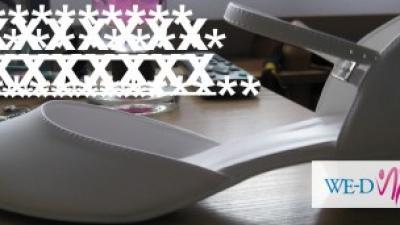 Śliczne buty białe ślubne 39