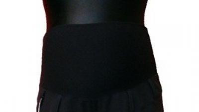 Śliczne i eleganckie czarne spodnie ciążowe r S