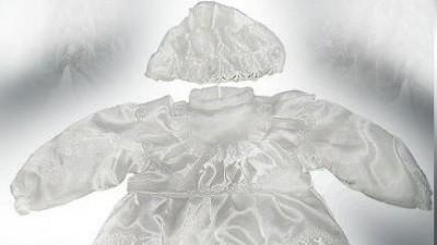 Śliczne ubranko na chrzest dla dziewczynki!zobacz