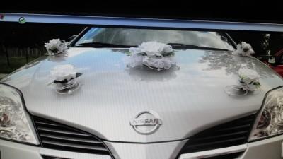 Ślubna dekoracja/ozdoba na samochód